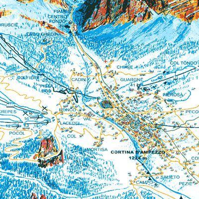 Карта маршрутов Кортина-д'Ампеццо
