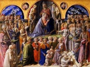 Галерея Уффици  - Филиппо Липпи - Коронование Марии