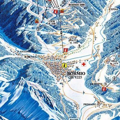 Карта маршрутов Бормио