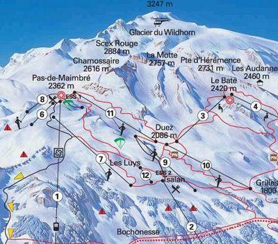 Карта маршрутов Валь-ди-Аоста