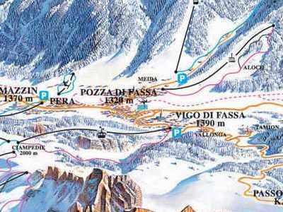 Карта маршрутов Валь-ди-Фасса