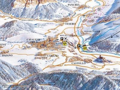 Карта маршрутов Валь-ди-Фьемме