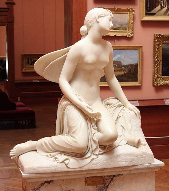 Пьетро Тенерани. Уснувшая психея. 1823 - Галерея современного искусства.