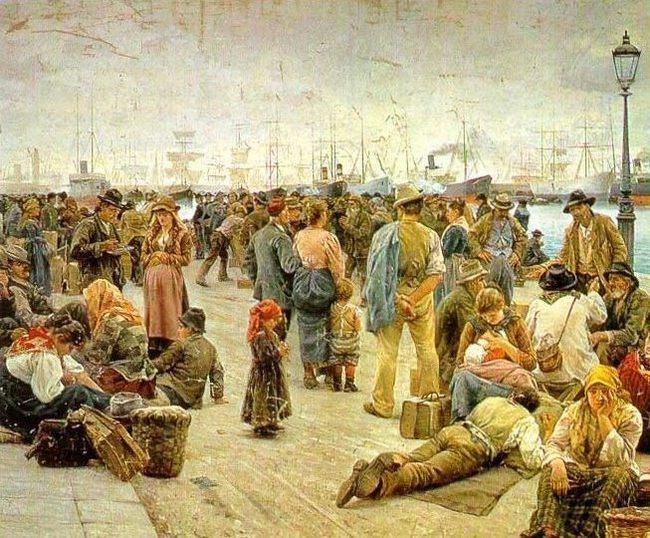 Адольфо Томмази. Эмигранты. 1896 - Галерея современного искусства.