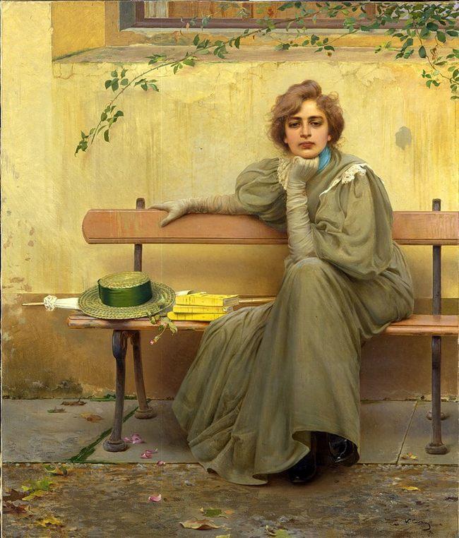 Витторио Маттео Коркосю. Мечты. 1896 - Галерея современного искусства.