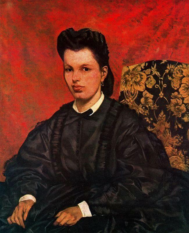 Джованни Фаттори. Портрет первой жены. 1864 - Галерея современного искусства.