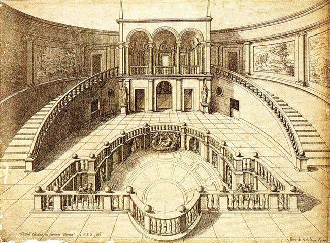 Национальный музей этрусского искусства - Вилла Джулия - Эскиз