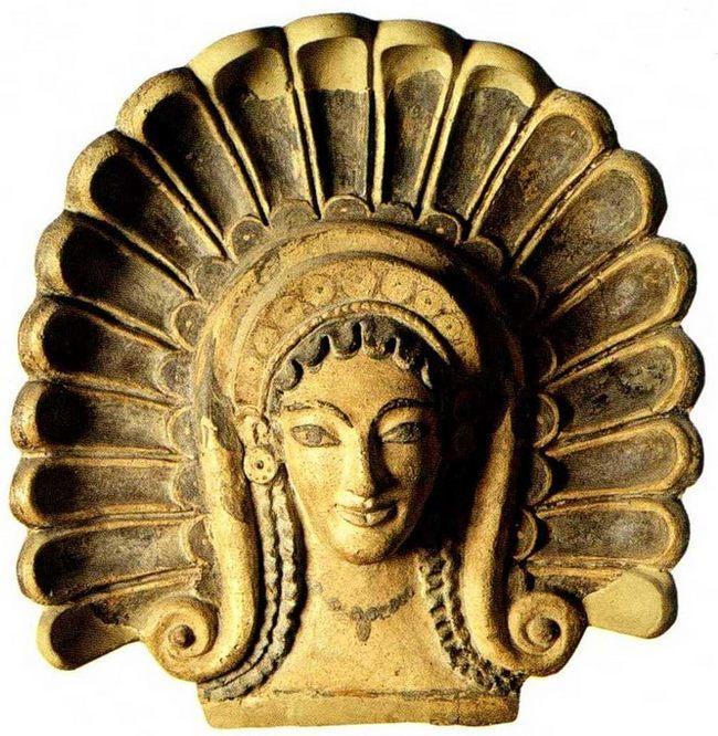 Национальный музей этрусского искусства - Антефикс - маска Менады