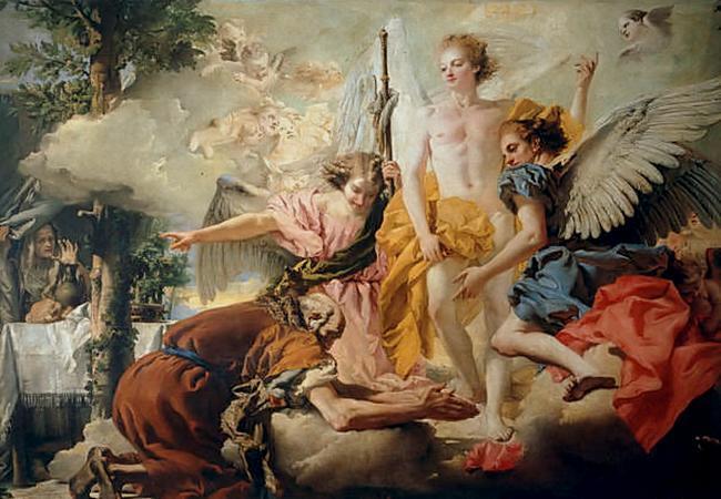 Доменико Тьеполо - Авраам. 1733 год. Галерея Академии Венеции