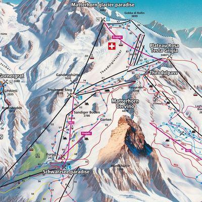 Карта маршрутов Червинии