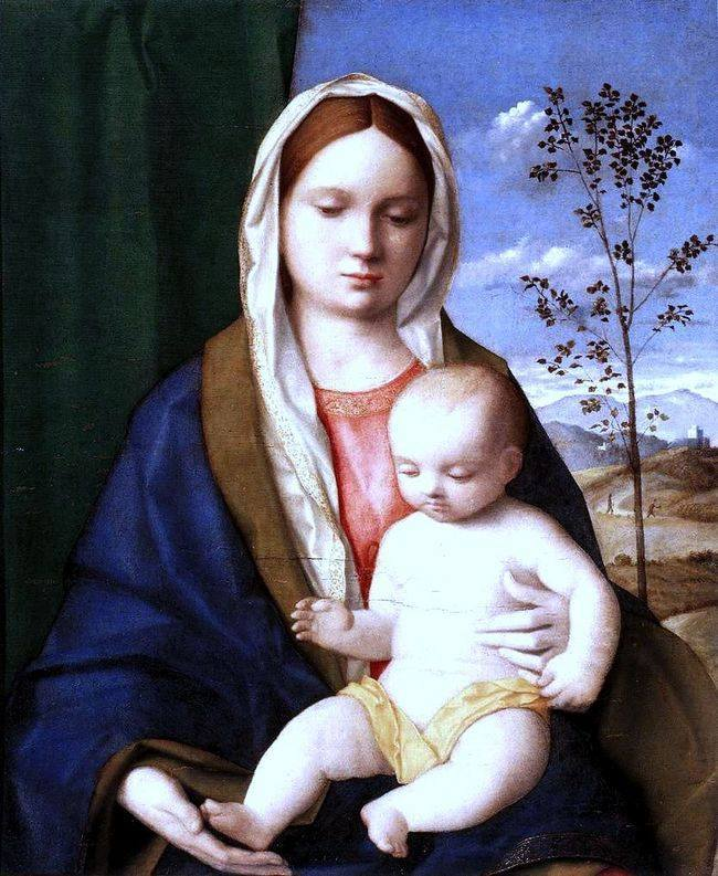 Мадонна с младенцем - Беллини - галерея Боргезе