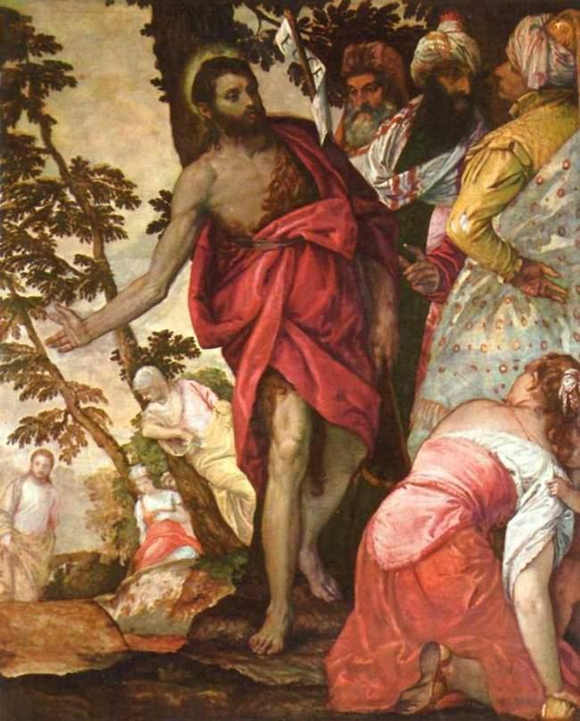Проповедь Иоанна Крестителя - Веронезе - галерея Боргезе