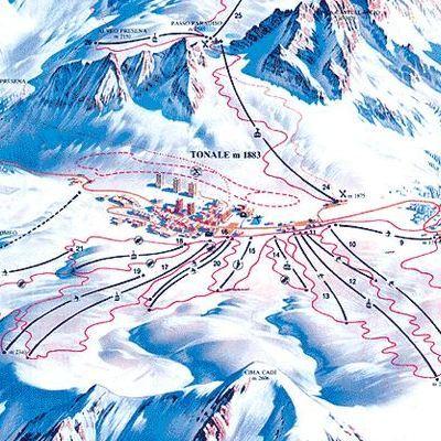Карта маршрутов Пассо Тонале