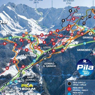 Карта маршрутов курорта Пила