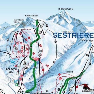 Карта маршрутов Сестриере