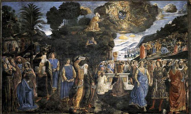 Ватиканские дворцы - Сикстинская капелла - Дарование заповедей