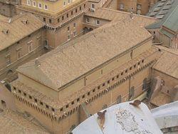 Внешний вид сикстинской капеллы - Ватиканские дворцы