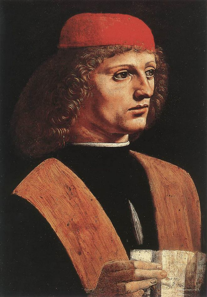 Леонардо да Винчи - Музыкант - Амброзианская пинакотека