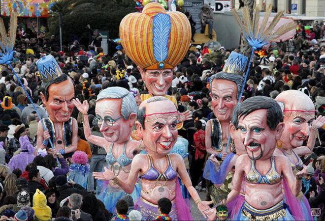 Куклы политиков - Карнавал в Виареджио