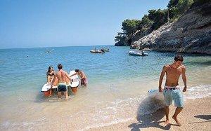 Пляжи Лигурии - галечный пляж