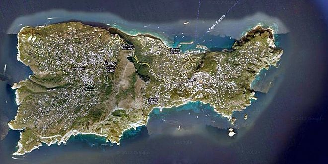 Карта острова Капри