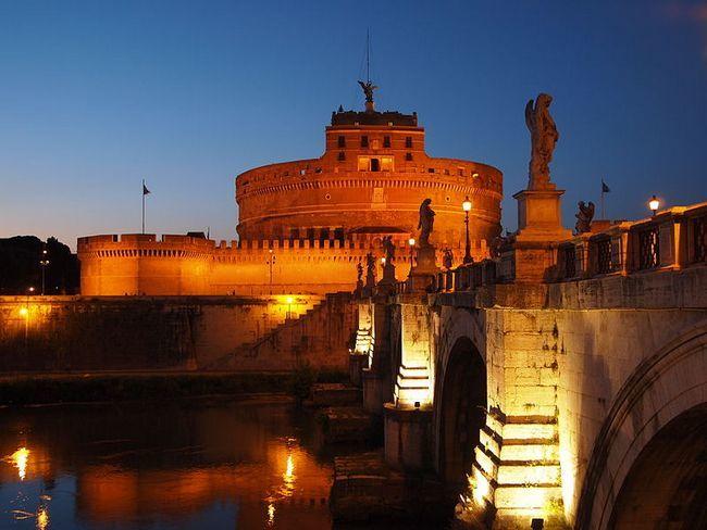 Ночной вид - Замок Сант-Анджело