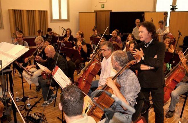 Работа над альбомом вместе с оркестром - Pooh OperaSeconda