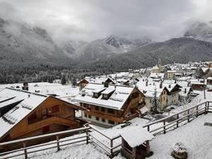 Непогода: первый снег в горах Венето