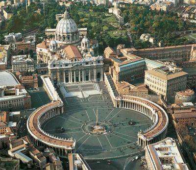 Собор и площадь Святого Петра (Рим, Ватикан)