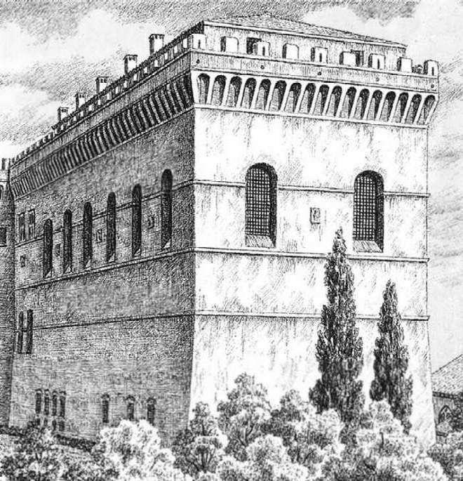 Первый вариант здания Сикстинской капеллы