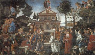 Искушение Христа - Боттичелли