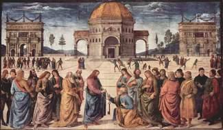 Вручение ключей апостолу Петру – Перуджино