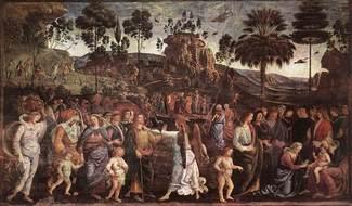 Обрезание сына Моисея - Перуджино