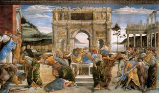 Возмущение против законов Моисея - Боттичелли
