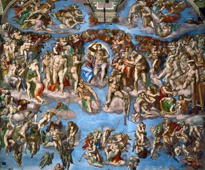 Страшный суд - Микеланджело