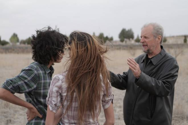 Ларри Кларк во время постановки сцены для фильма Девушка из Марфы