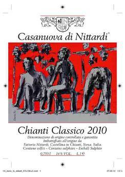 Новая этикетка Классического Кьянти «Казанова их Ниттарди» (Casanuova di Nittardi) нарисована Дарио Фо