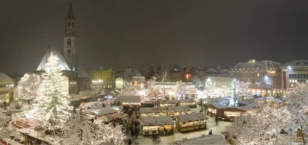 Рождественская ярмарка Больцано - панорама