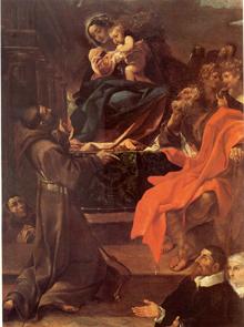 Людовико Карраччи - Мадонна с младенцем - 1591г