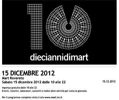Музей современного искусства Тренто (Mart) - Афиша