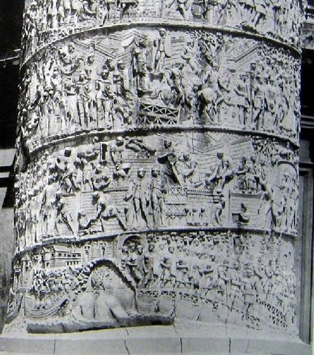 Фрагмент барельефов на колонне Траяна