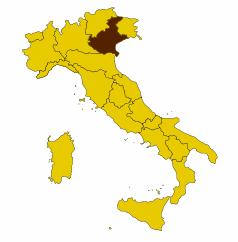Регион Венете на карте Италии