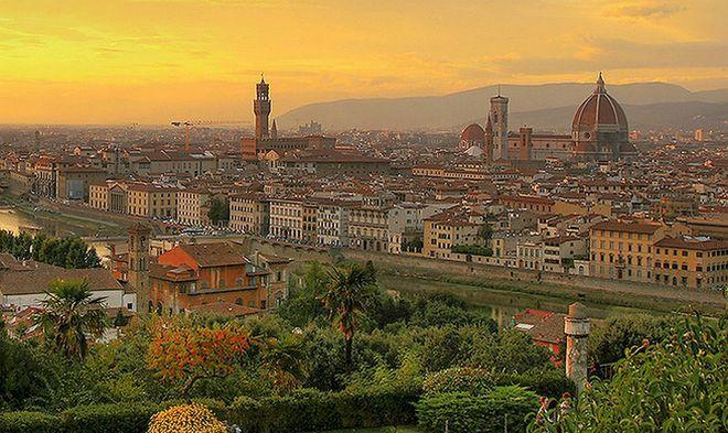Панорама Флоренции на закате