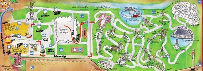 Карта парка Пиноккио