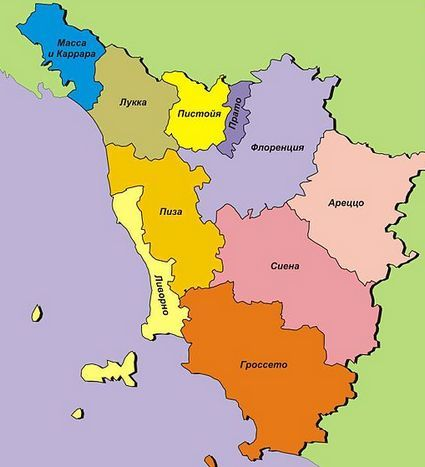 Провинции Тосканы