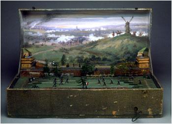 Солдатики - модель фрагмента франко-прусской войны - музей Игрушек в Милане