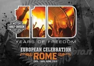 110-ю годовщину Harley Davidson отмечают в Риме