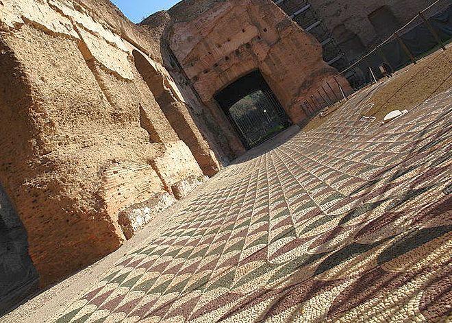 Термы Каракаллы - мозаика на полу