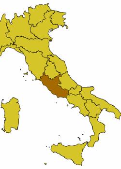 Регион Лацио на карте