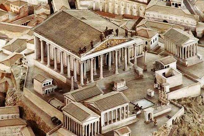 Капитолийский Храм (Храм Юпитера) - макет